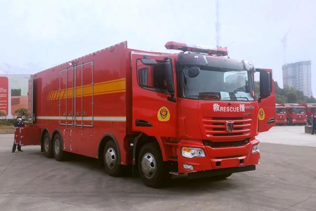 从这里走向战成媳ΡΑ!16辆联合卡车器材保障消防车交付安徽消防总队